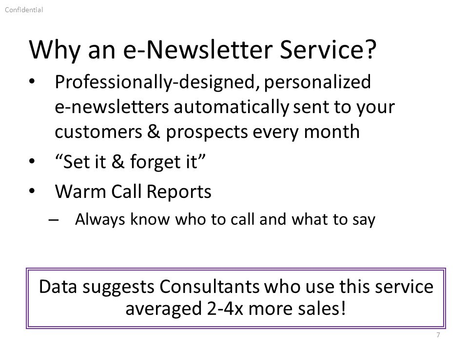 Why an e-Newsletter Service.