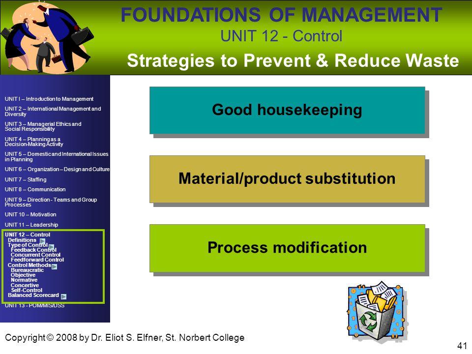 UNIT I – Introduction to Management UNIT 2 – International Management and Diversity UNIT 3 – Managerial Ethics and Social Responsibility UNIT 4 – Plan