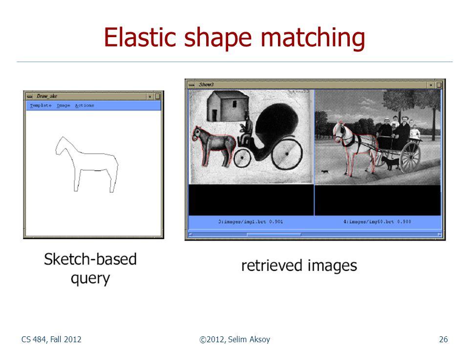 CS 484, Fall 2012©2012, Selim Aksoy26 Elastic shape matching
