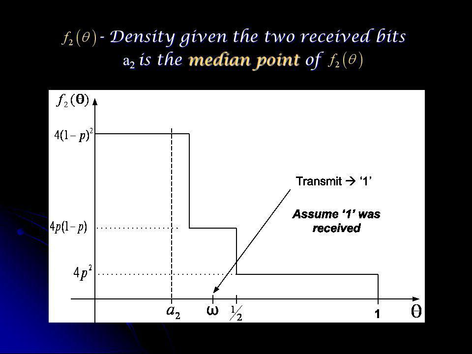 - Density given the two received bits - Density given the two received bits a 2 is the median point of
