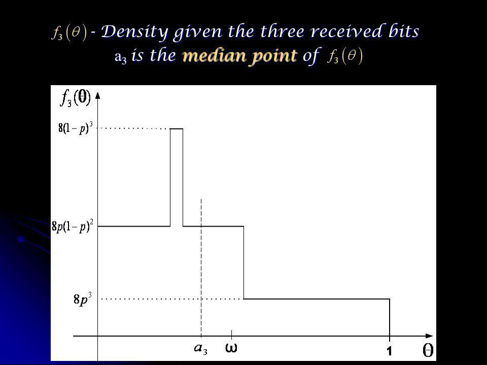 - Density given the three received bits - Density given the three received bits a 3 is the median point of