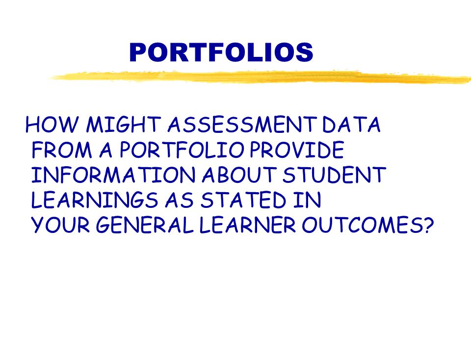 Direction Collection Selection Reflection OUTCOMES PORTFOLIOS