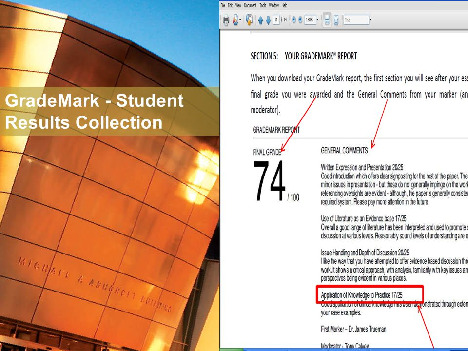 GradeMark - Student Results Collection