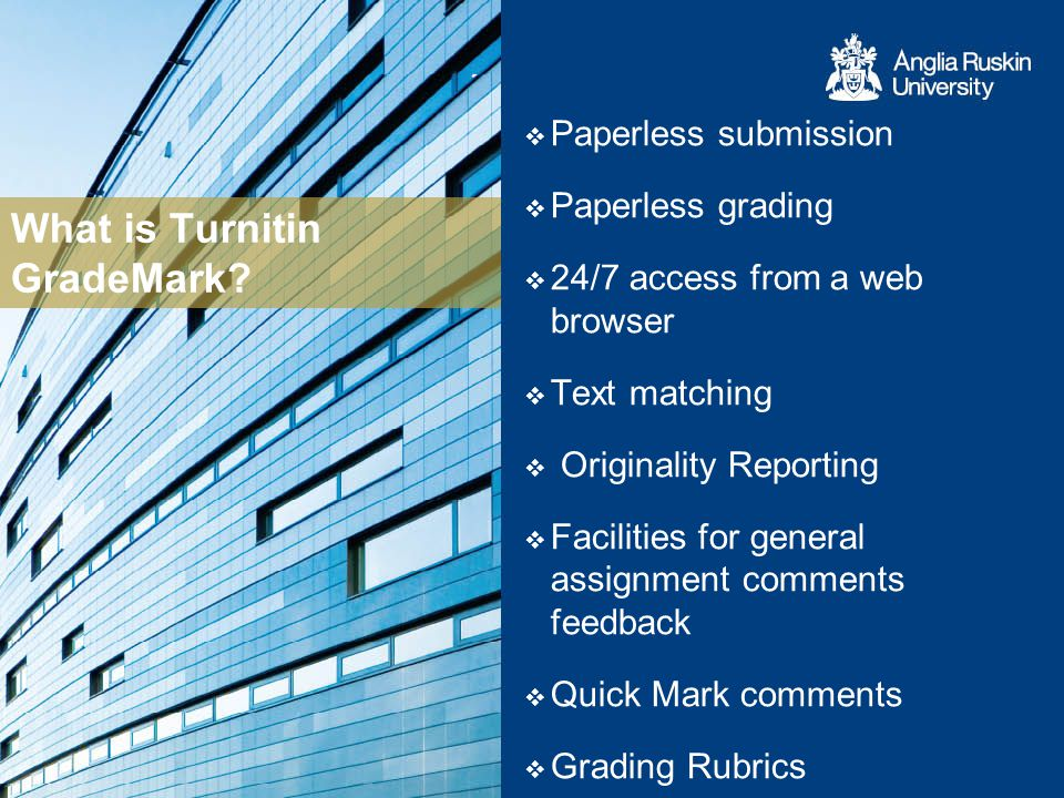 What is Turnitin GradeMark.