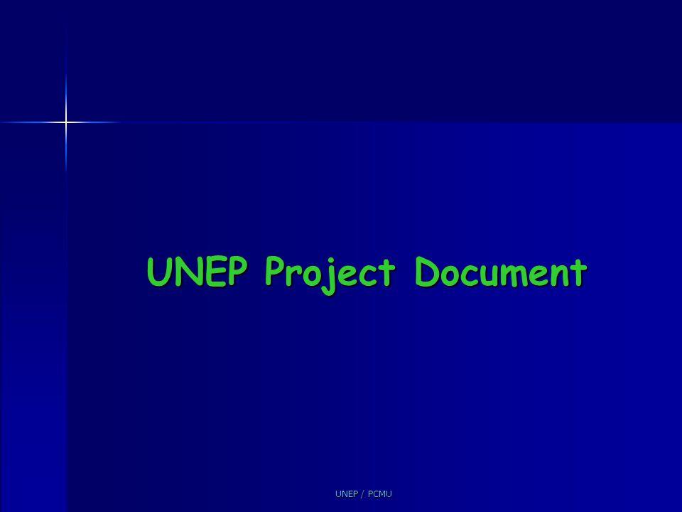 UNEP / PCMU UNEP Project Document