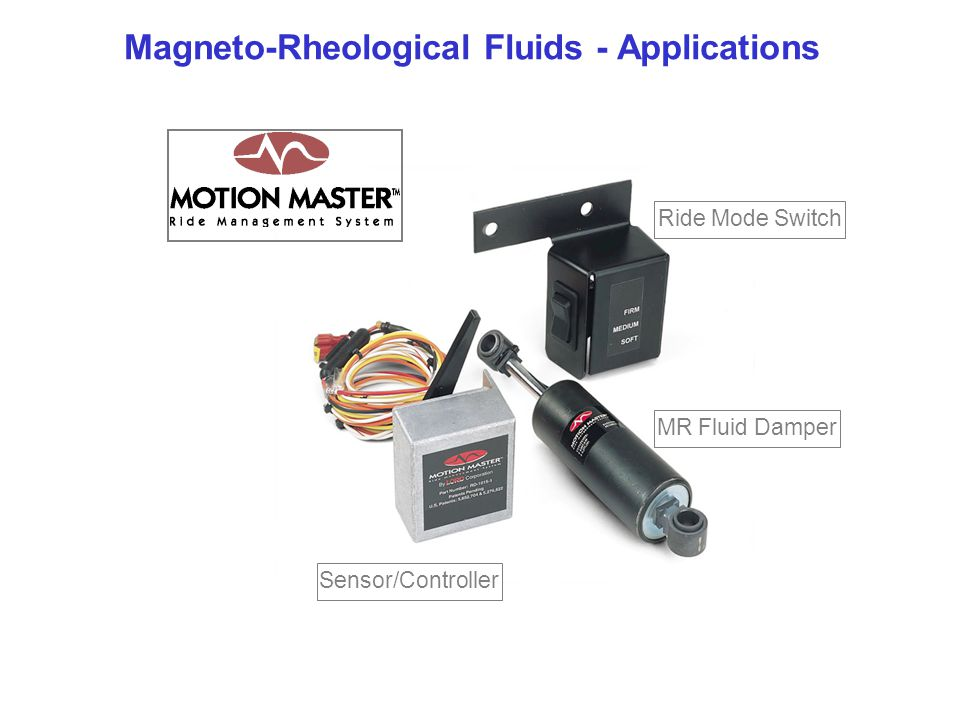 Magneto-Rheological Fluids - Applications Ride Mode Switch MR Fluid Damper Sensor/Controller