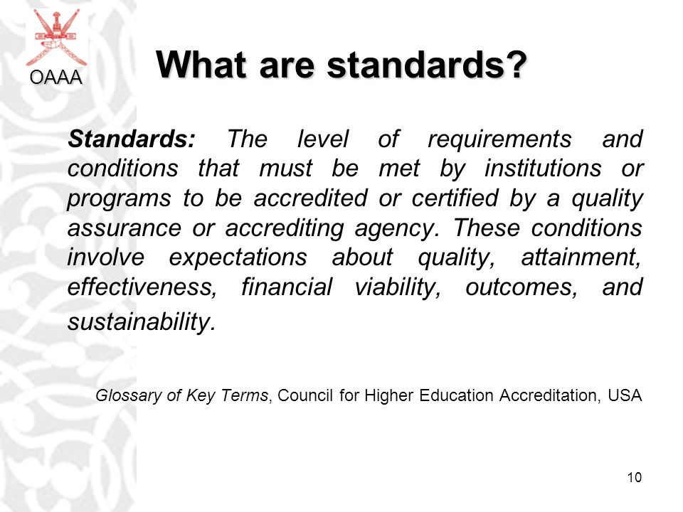 10 What are standards.