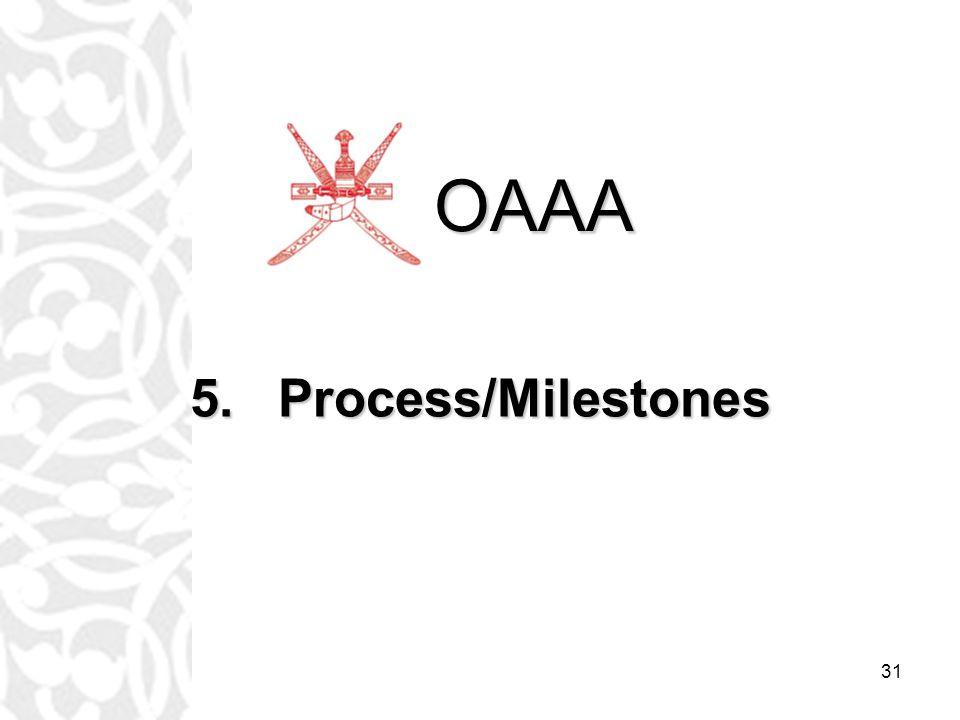 31 5.Process/Milestones OAAA