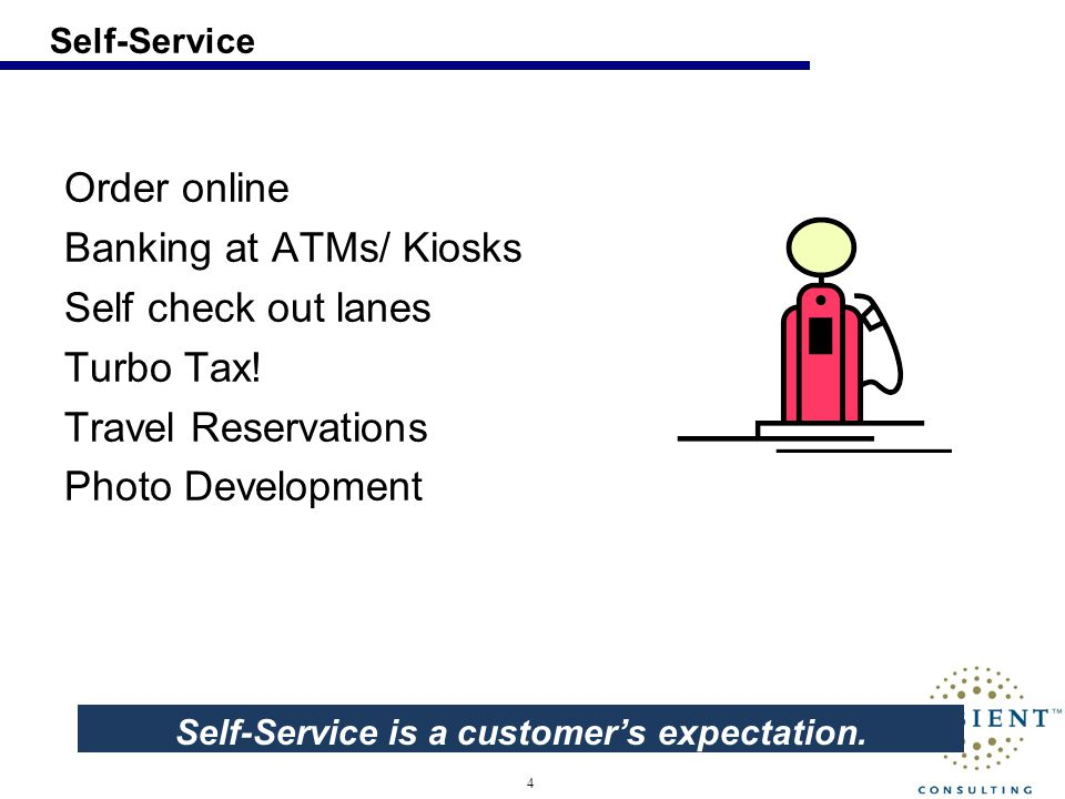 5 Options Does providing self-service take away from a customers desire to interact with a human being.