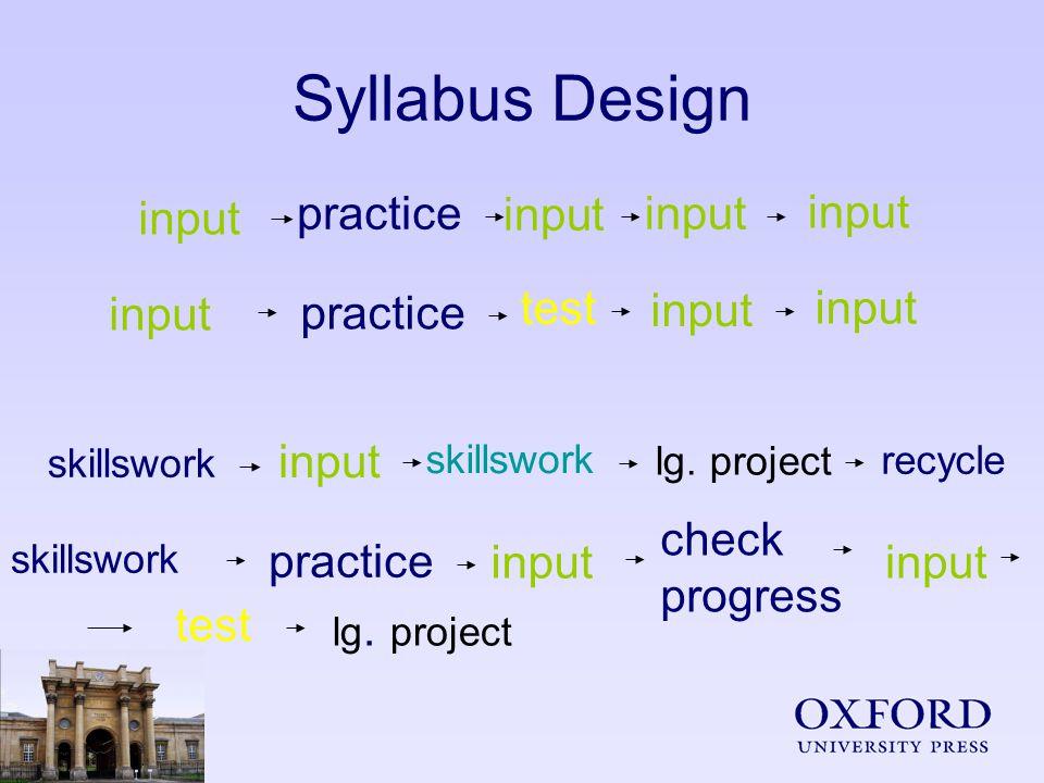 Syllabus Design input practiceinput practice test input skillswork input recycle practice test input skillswork lg.