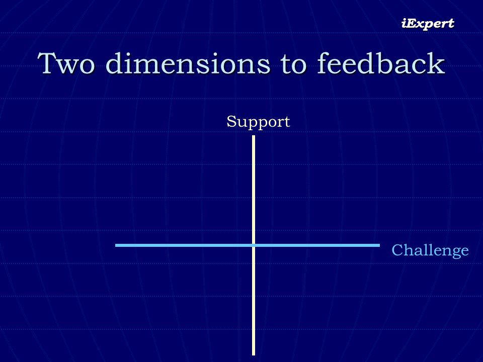 iExpert Two dimensions to feedback Challenge Support