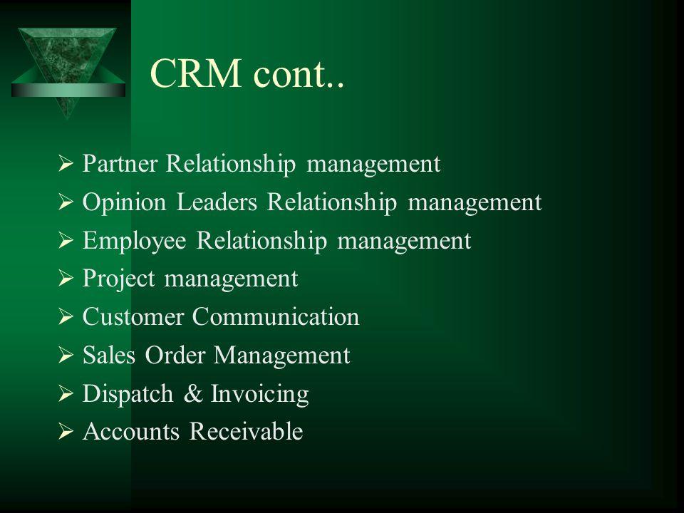 Modules Marketing Management Sales Management Customer Feedback & Complaint Sales Force Automation Field service Customer Communication Customer Train