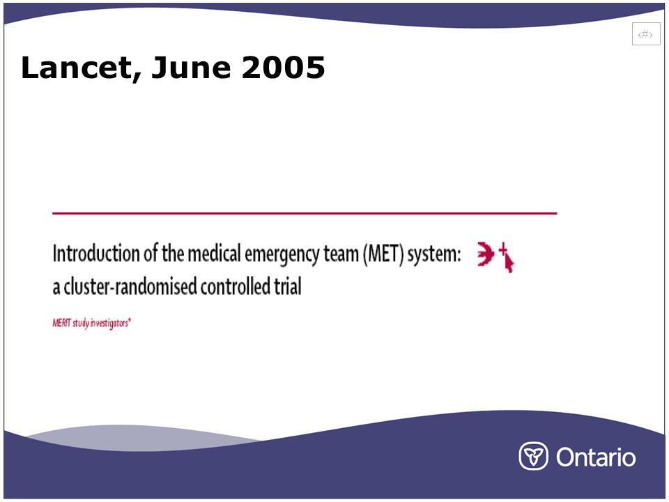 22 Lancet, June 2005