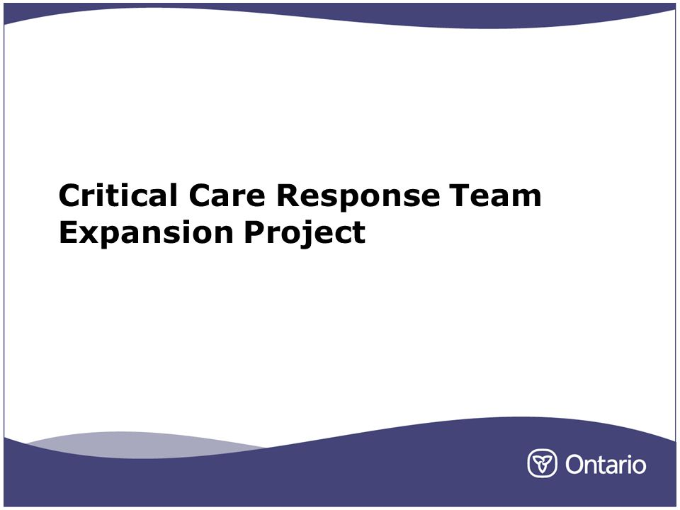 Critical Care Response Team Expansion Project