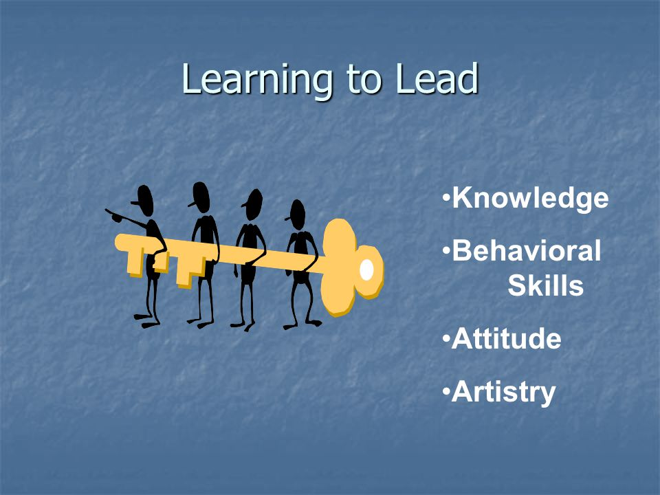 Learning to Lead Knowledge Behavioral Skills Attitude Artistry