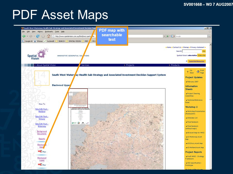 SV001668 – W3 7 AUG2007 PDF Asset Maps PDF map with searchable text