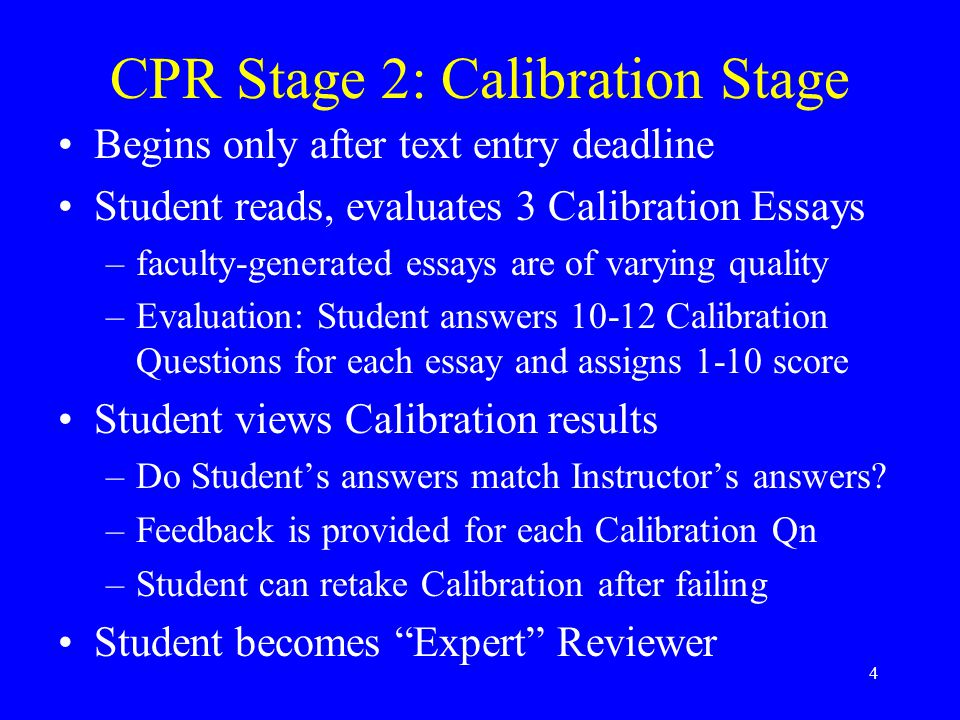 5 Sample Calibration Questions Content (accurate, complete) –Does the essay conclude that 150.0 m has four significant figures.