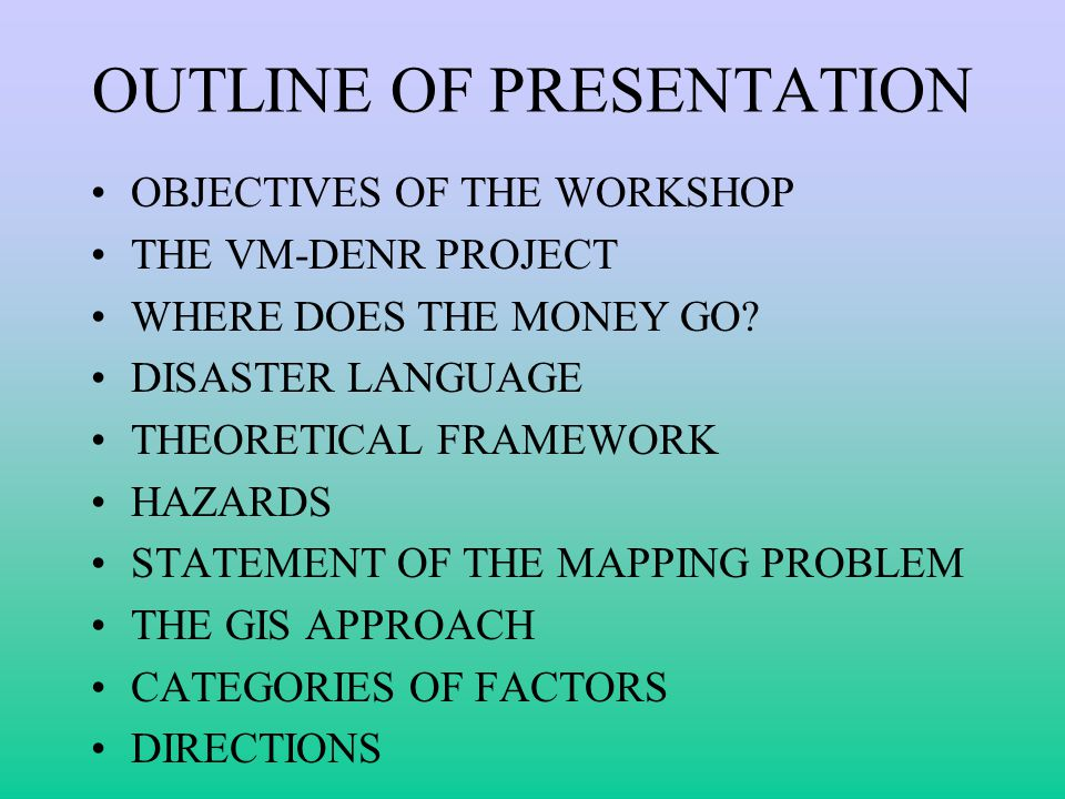 OBJECTIVES OF THE WORKSHOP Objectives –To disseminate findings of the project –To obtain feedback on the usefulness of results –To find out how best to inform the public about project results –To explore follow-up activities arising from results and feedback on them Mechanics