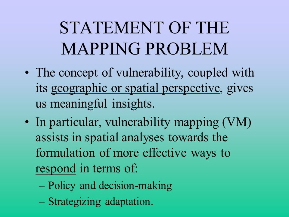 THE GIS APPROACH The GIS approach, as illustrated, facilitates: