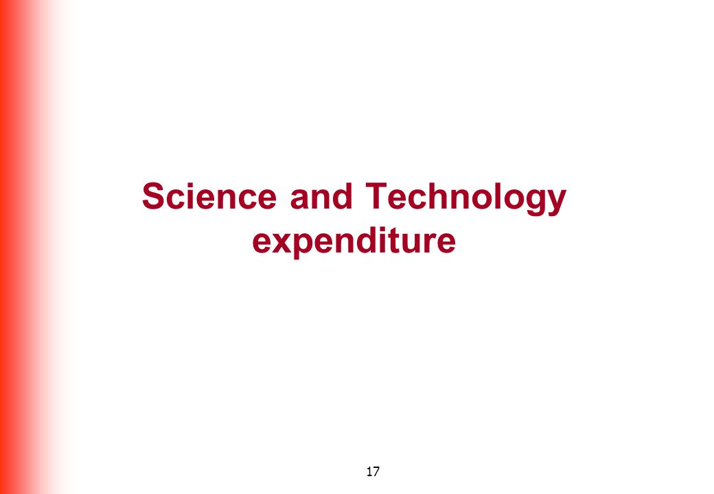 17 Science and Technology expenditure