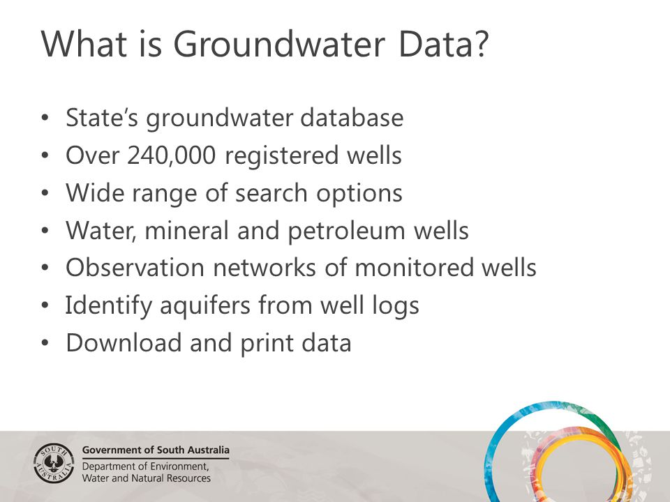 What is Groundwater Data.