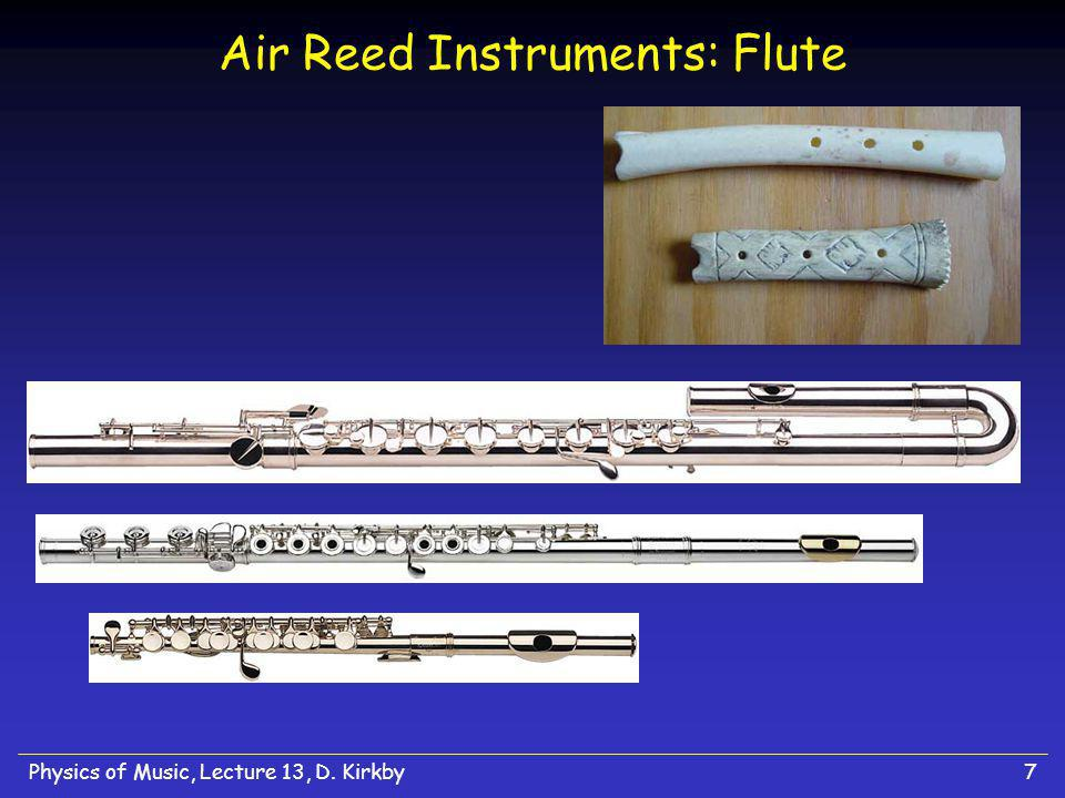 Physics of Music, Lecture 13, D. Kirkby7 Air Reed Instruments: Flute