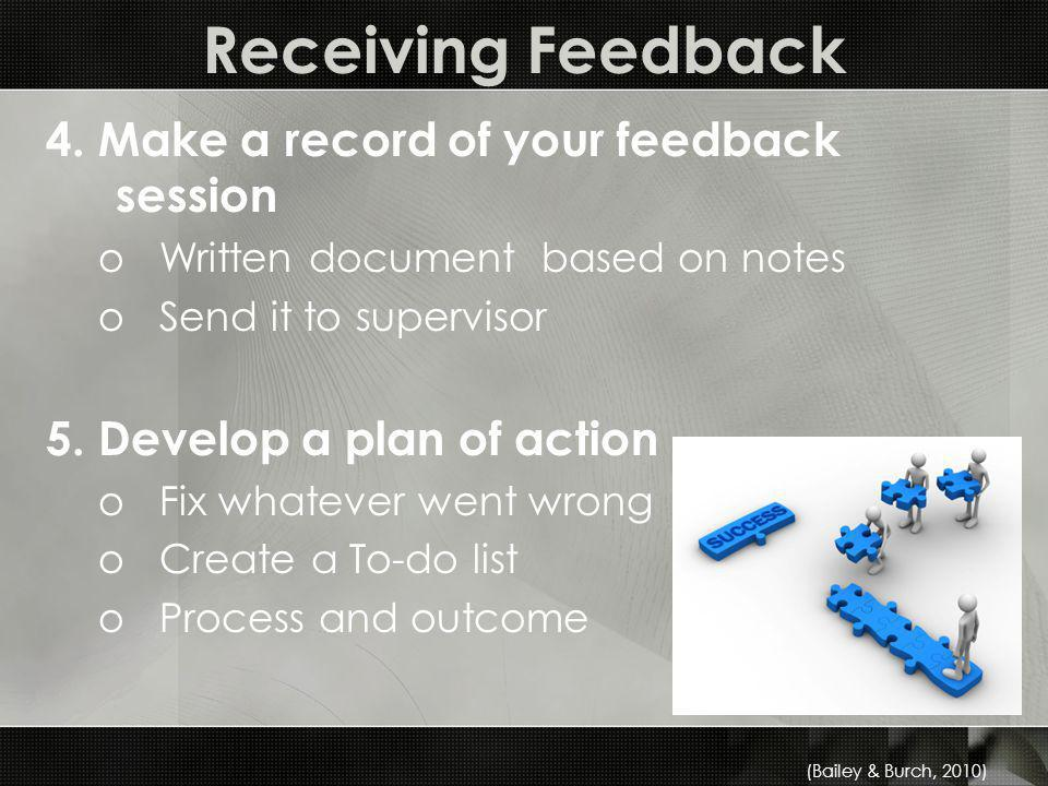 Receiving Feedback 4.