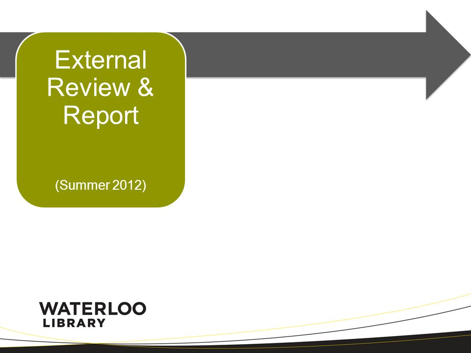 External Review & Report (Summer 2012)