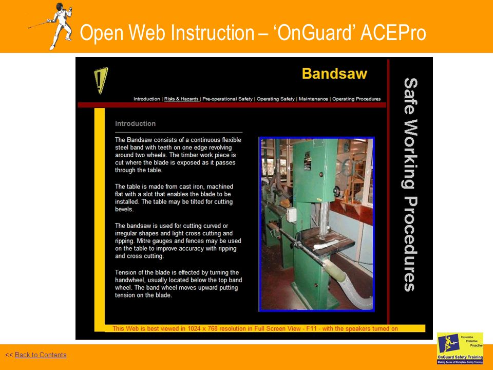 Open Web Instruction – OnGuard ACEPro Safe Work Test Selected << Back to ContentsBack to Contents