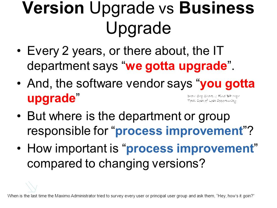 Put Business Upgrade on its own Schedule Solution Who can do this.