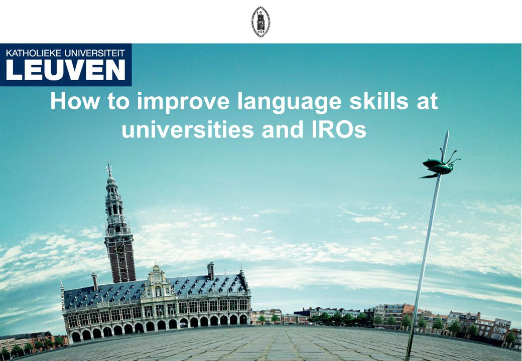 How to improve language skills at universities and IROs