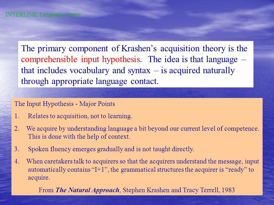 According to Krashen,