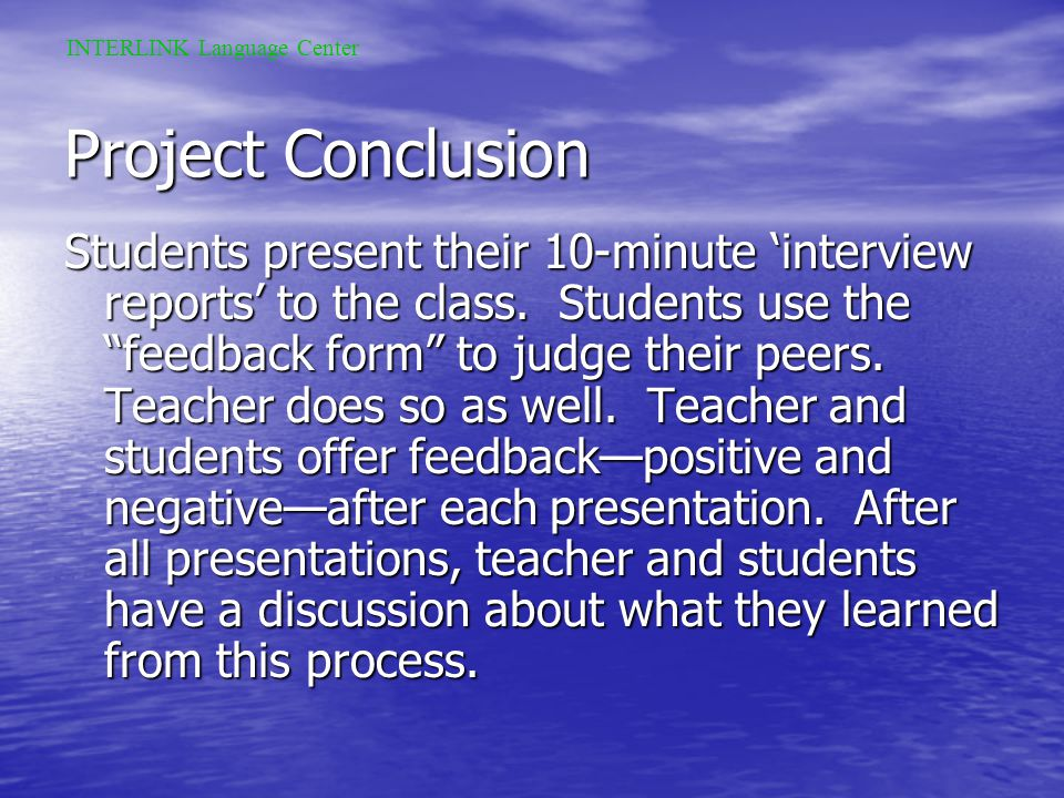 Stage 14 Students do more research at home about the professional or professor they intend to interview. Using this information, they write a list of