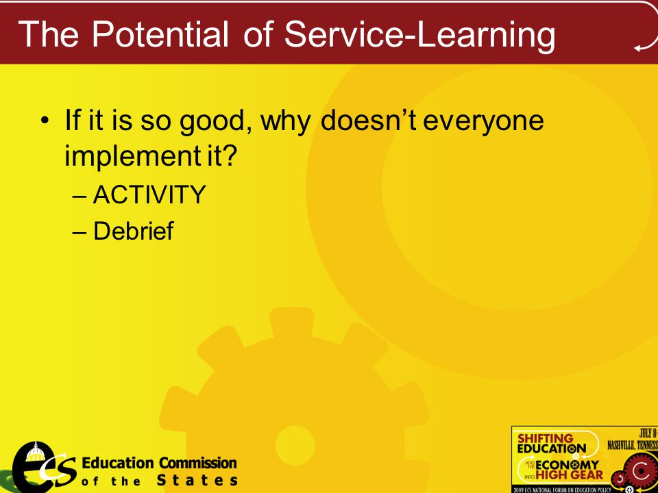 The Potential of Service-Learning If it is so good, why doesnt everyone implement it.