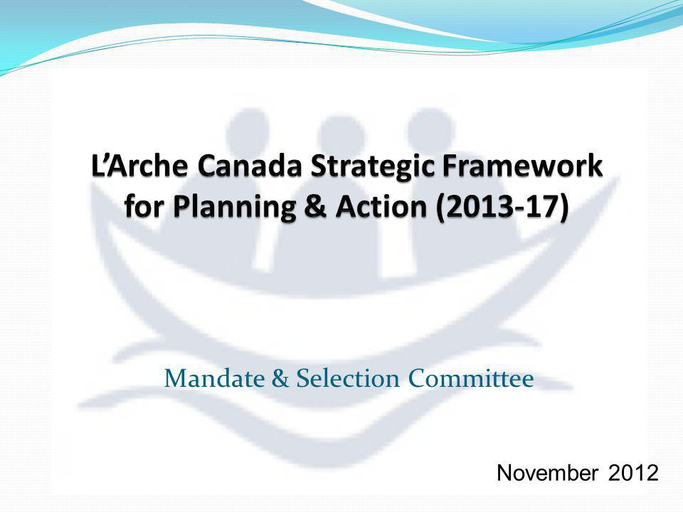 Mandate & Selection Committee November 2012