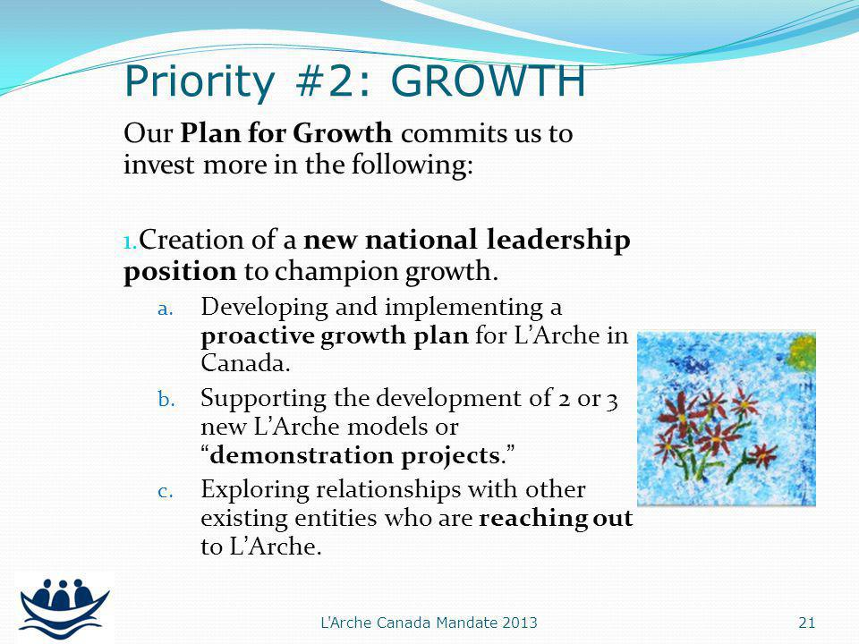 Our Plan for Growth commits us to invest more in the following: 1.