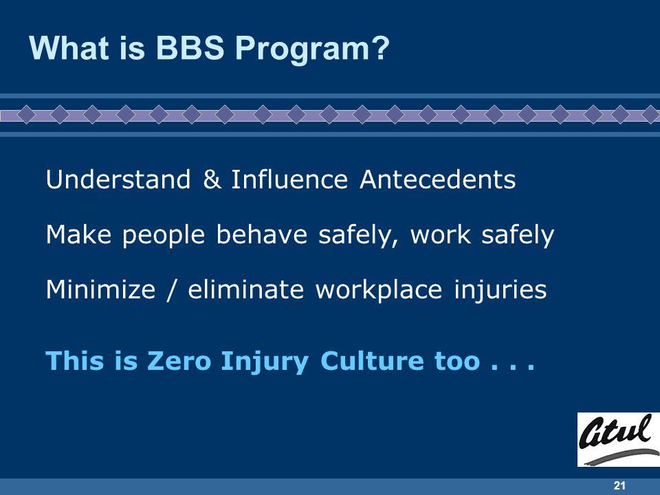 21 What is BBS Program.