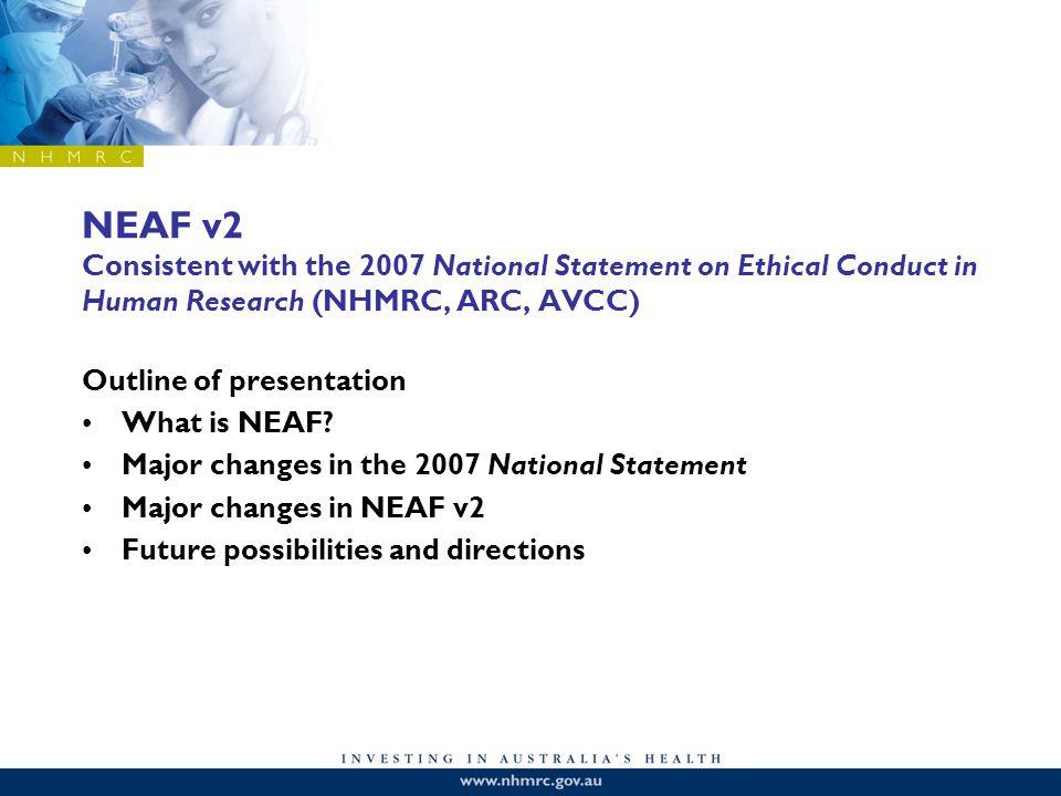 NEAF v2 What is NEAF.