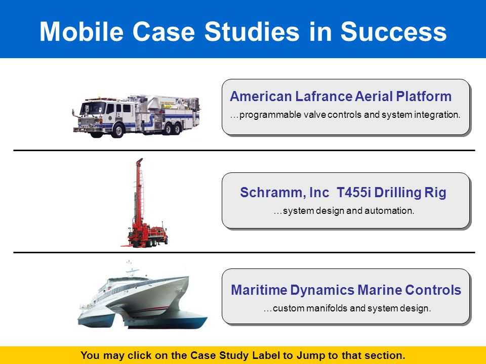 Mobile Case Studies in Success American Lafrance Aerial Platform …programmable valve controls and system integration.