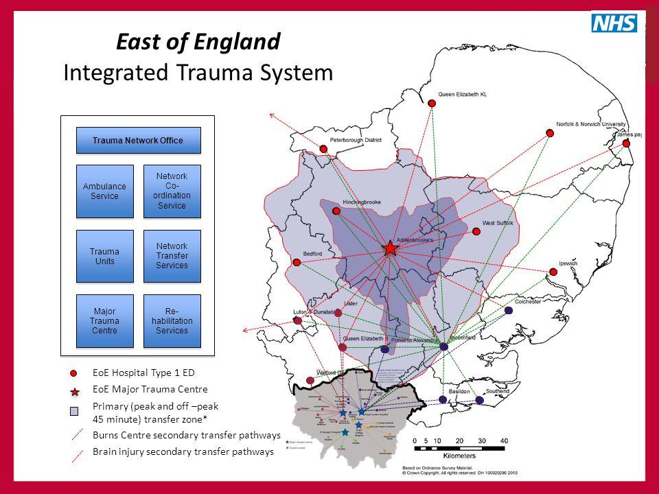 Ambulance Service Network Co- ordination Service Trauma Units Network Transfer Services Major Trauma Centre Re- habilitation Services Trauma Network O