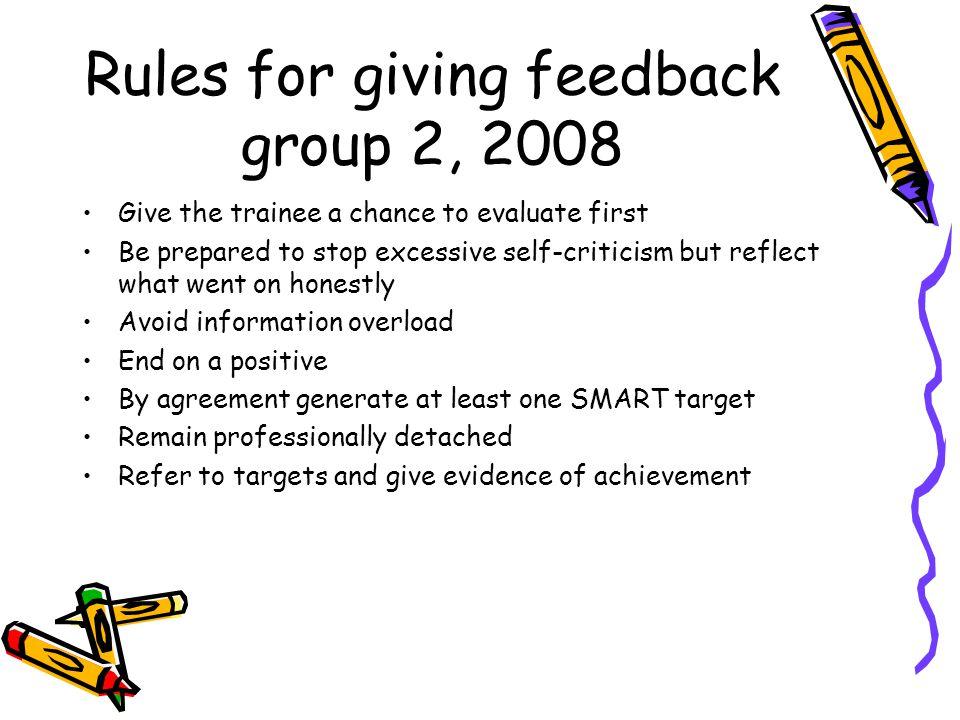 References Watkins, C.(2000) Feedback between teachers.