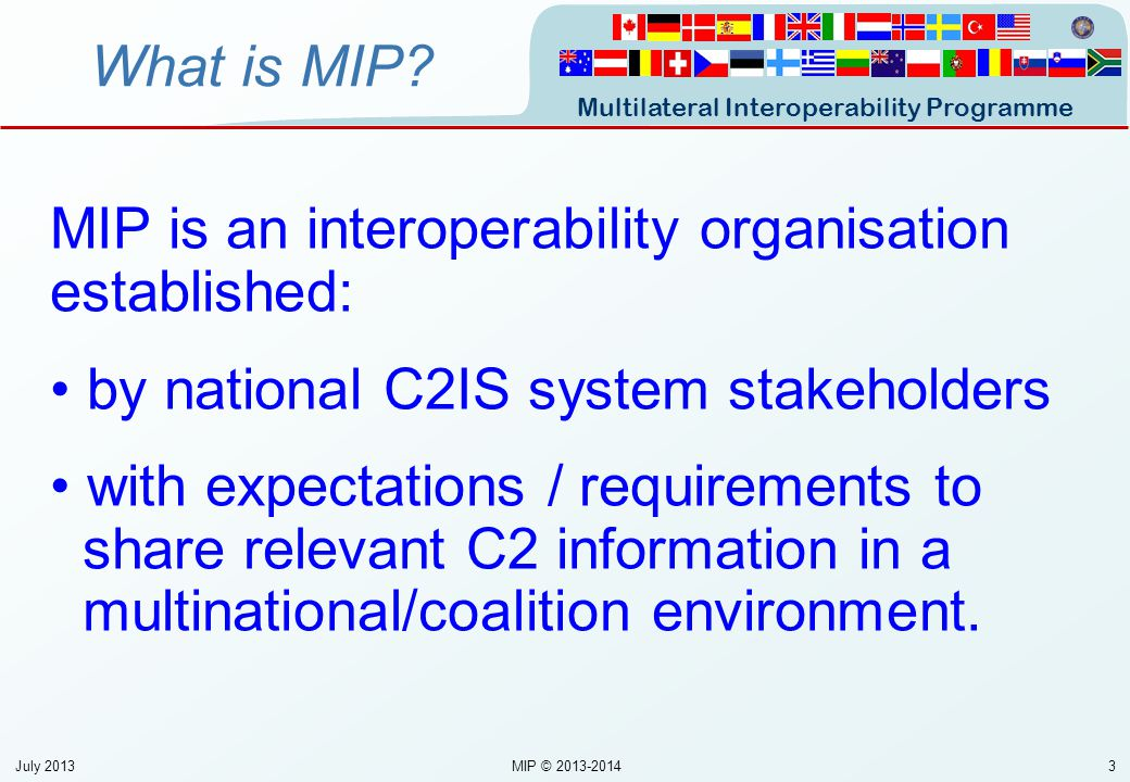 Multilateral Interoperability Programme 44 What is MIP.