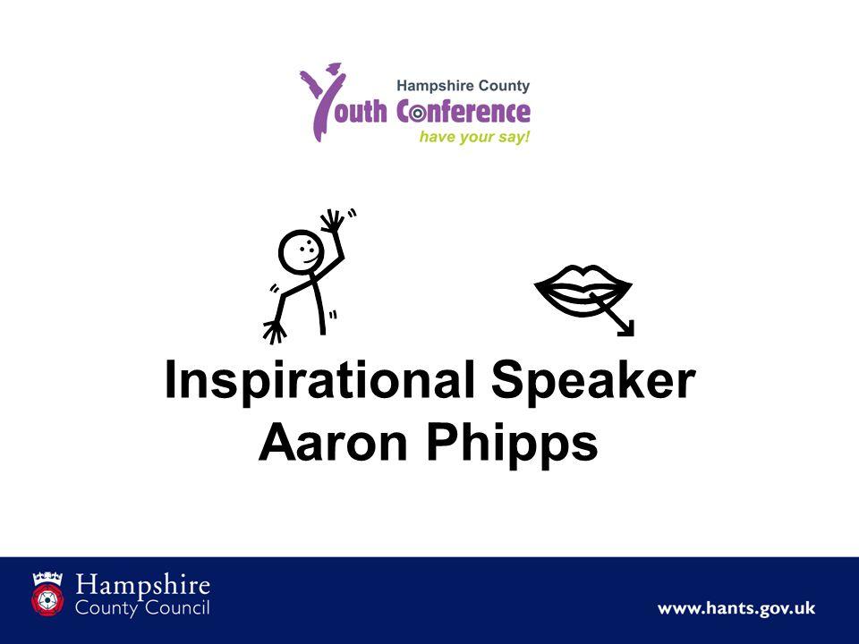 Inspirational Speaker Aaron Phipps
