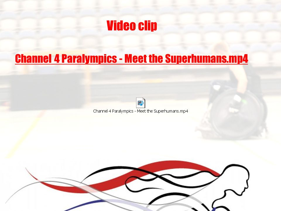 Video clip Channel 4 Paralympics - Meet the Superhumans.mp4
