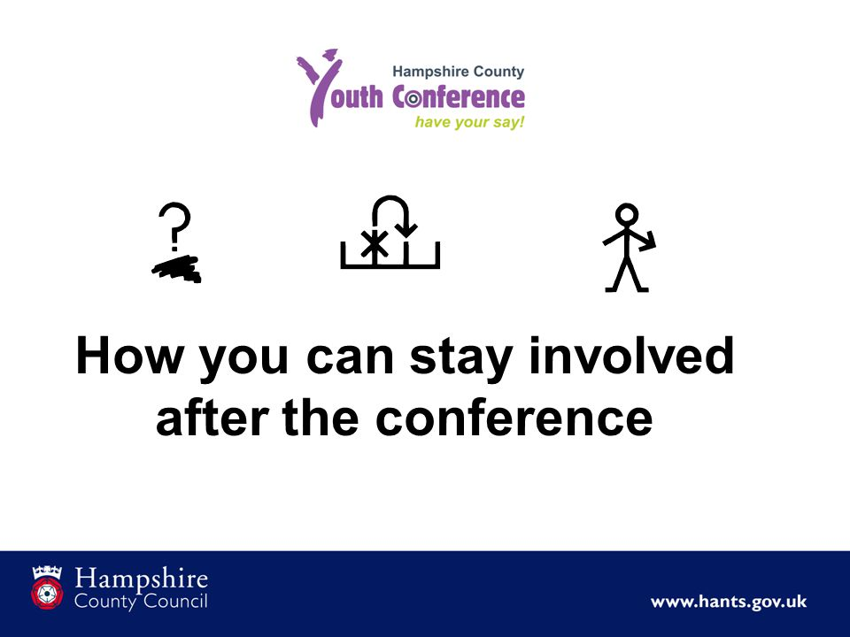 How you can stay involved after the conference