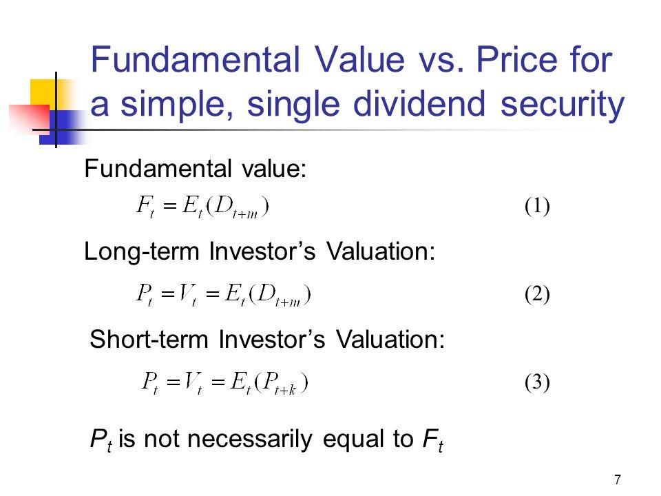 7 Fundamental Value vs.