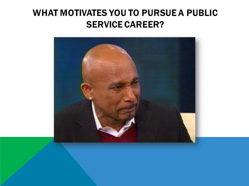 WHAT MOTIVATES YOU TO PURSUE A PUBLIC SERVICE CAREER?