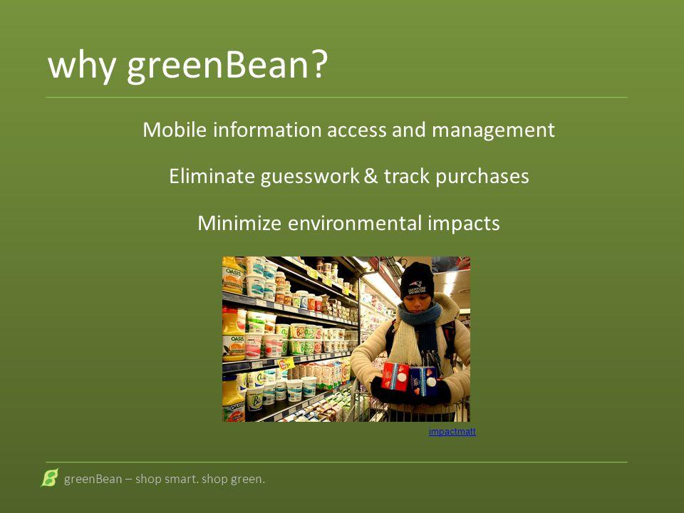 greenBean shop smart. shop green.