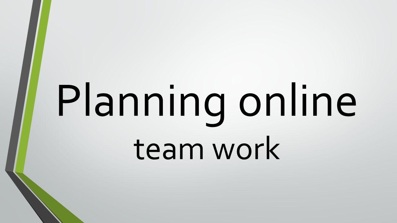 Planning online team work
