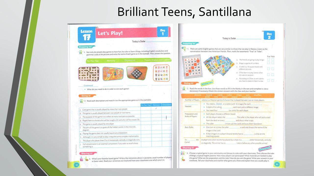Brilliant Teens, Santillana